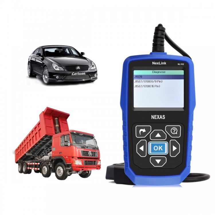 Nexlink NL102 OBD2 HD Heavy Duty Diesel Truck Diagnostic Scanner