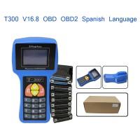 T300 Latest Version V16.8 Spanish Language Auto Key Programmer T-code SBB Car Transponder