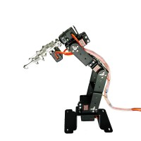 6DOF Mechanical Robot Arm Frame Clamp Claw Mount with Servos for Robotics Arduino Raspberry Unassembled