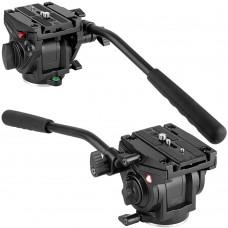 Video Camera Tripod Action Fluid Drag Head Sliding Plate for DSLR Cameras KINGJOY VT-3510