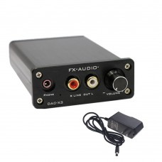 FX DAC-X3 Fiber Coaxial USB Decoder 24BIT 192Khz USB DAC Headphone Decoder+Power Adapter