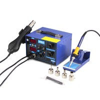 YIHUA 862D+ 2 in 1 Rework Station 650W SMD Rework Station Hot Air Gun Welding Silicone Wire