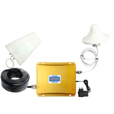 GSM WCDMA 900 2100MHz 3G Dual Band Mobile Cell Phone Signal Booster Repeater