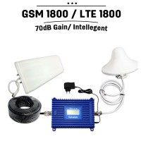 GSM 1800 LTE 1800mhz 70dB Intelligent Control Mobile Repeater Phone Cell Phone Signal Booster Amplifier Extender