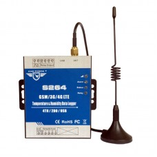 S264 GSM SMS GPRS Remote Control SMS 2G Temperature Humidity Monitoring Data Logger Alarm System