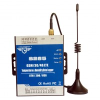S265 GSM SMS GPRS Remote Control SMS 4G Temperature Humidity Monitoring Data Logger Alarm System