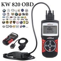 KW820 OBDII OBD2 EOBD Auto Scanner Car Engine Fault Code Reader Diagnostic
