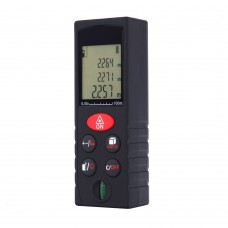 KXL-D100 Digital Laser Distance Meter 100m Range Finder Level Ruler Area Volume Measure Bubble