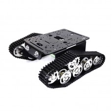 T333 Tank Aluminum Alloy Chassis Intelligent Car 37 Electric Motor Robot Black Silver 150rpm