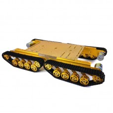 TS500 Tracked Shock Absorption Tank Plastic Chassis Intelligent Car 4 Driver 37 Motor Robot Gold Silver 150rpm