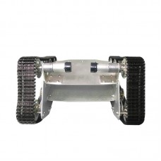 T700 Tank Load Bearing Wheel Chassis Car 37 Motor Aluminium Alloy Robot Double Bottom Plate Black