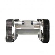 T700 Tank Load Bearing Wheel Chassis Car 37 Motor Aluminium Alloy Robot Double Bottom Plate Black