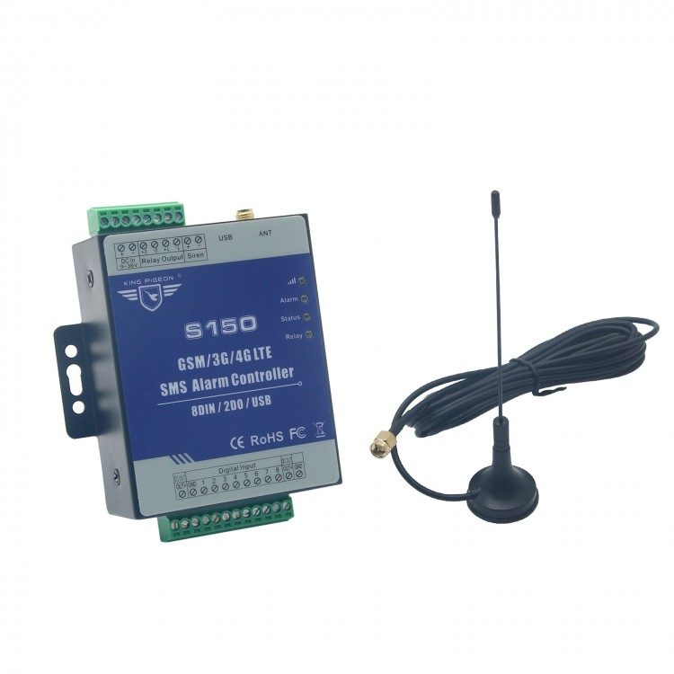 S150 3G GSM SMS 8 Way Remote Controller Alarm Relay Switch Supports