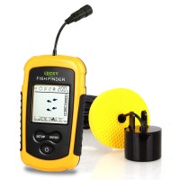 Outdoor Fish Finder 100M Depth Sonar Sounder Alarm Transducer for Fishermen