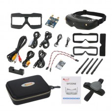 SKY02S V+5.8G Video Glasses 48 Channel Dual Receiver Image HDMI FPV GOGGLE Aeromodel Set