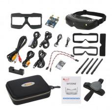 SKY02S V+5.8G Video Glasses 48 Channel Dual Receiver Image HDMI FPV GOGGLE Aeromodel Set
