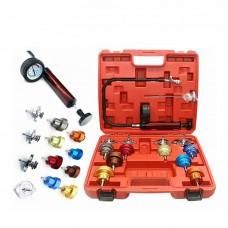 Universal Automobile Radiator Pressure Tester Kit Water Tank Leak Detector Tool 14PCS