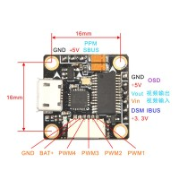 Super_S F4 Flight Controller Board Integrated OSD Built-in 5V BEC Omnibus_S ESC