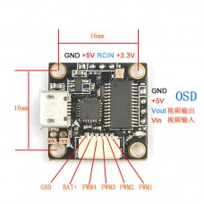 Super_S F3 Flight Control Board Integrated OSD Brushless ESC Built-in 5V BEC Omnibus_S