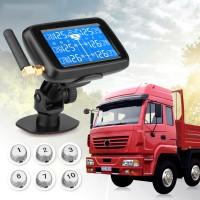 Car Truck Wireless TPMS Tire Pressure Monitor System+6External Sensor LCD Display