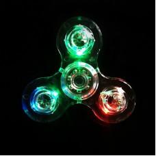 Cristal Handspinner Decompression Fidget Hand Spinner Gyroscope Transparent LED Rotation Toys