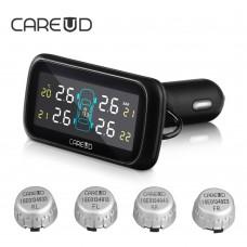 CAREUD U903 Tire Pressure Monitor System Vehicle Battery Power Monitoring External Sensors