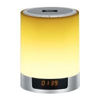LED Bluetooth Stereo Speaker Wireless Night Light Subwoofer Alarm Clock Mini HiFi