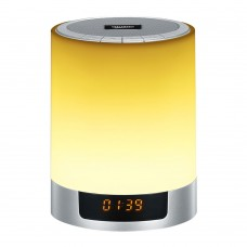 LED Bluetooth Stereo Speaker Wireless Night Light Subwoofer Alarm Clock Mini HiFi