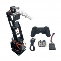 Arduino Robot 6 DOF Aluminium Clamp Claw Mount kit Mechanical Robotic Arm & Servos & 32 CH Controller