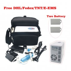 GENUINE EGET Certified Portable Oxygen Concentrator Generator Home Travel Matched with Two Batteries