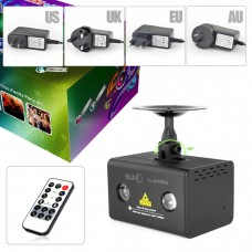 SUNY R&G Laser Aurora Projector Lights & RGB * 3W LED Background Mixing Cross