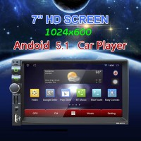 MP5 Car Player Andoid5.1 GPS DVD Stereo 7.0Inch 1080P HD Bluetooth Touch AM FM Radio