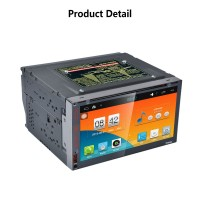 DVD Car Player Android5.1.1 GPS Navigation DVR Drive Recorder HD Screen WiFi 7.0Inch