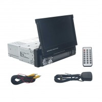 "Car Radio Mp5 Mp3 Player 7"" 1 Din Touchscreen GPS Navigation Bluetooth USB"