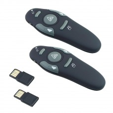 Red Laser Pointer Pen USB PowerPoint Presenter 2.4GHz Wireless RF 2PCS