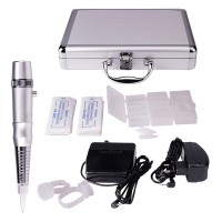 Tattoo Makeup Kit Permanent Eyebrow Machine Pen Set with Carry Case