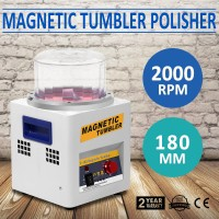 JX-185 Magnetic Tumbler 180mm Jewelry Polisher Super Finishing Machine 220V