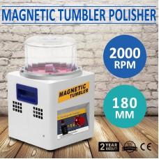 JX-185 Magnetic Tumbler 180mm Jewelry Polisher Super Finishing Machine 220V