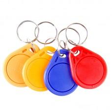 4pcs RFID IC Key Card Tags Keyfobs Token NFC TAG Keychain 125KHZ 13.56Mhz