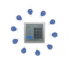 AD2000-M Door Access Control Controller RFID Card Reader +10pcs Keyfobs SS-TECH