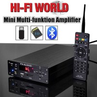 HiFi Integrated Amplifier Bluetooth 4.0 Digital Amp U-disk SD Card Headphone USB