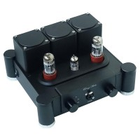6SN7X2+12AX7 Hi-End Class A Pure Tube Headphone Amplifier HiFi Stereo Preamplifier Silver Black