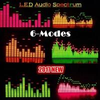 6 Modes Music Audio Spectrum Level Display Screen Indicator VU Meter