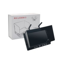 7 Inch RX-LCD5812 5.8GHz HD LCD Screen Diversity Receiver DVR Monitor 1024*600P for Multicopter FPV Photography Black