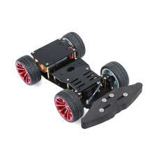 4WD RC Smart Car Metal Chassis Platform with S3003 Metal Servo & Bearing Kit Unassembled
