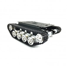 Tracked Unassembled Shock Absorption Tank Chassis Intelligent Car Robot 150rpm 9V