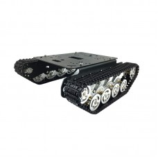 Tracked Unassembled Shock Absorption Tank Plastic Chassis Intelligent Car Robot 330rpm 12V