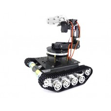 Mechnical Arm 6 DOF Gimbal+Unassembled TS100 Tracked Tank + Metal Rotation Base