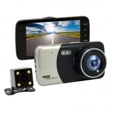 Car DVR Drive Recorder Rearview Mirror 4.0'' Screen 2K 1080P 32G HD H300