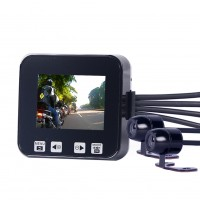 """C6 Motorcycle Car Digital DVR Recorder Sports Video 2.0""""Touch 720P Seal Double Cameras GPS"""